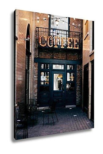 Ashley Canvas Coffee Shop Entrance, Wall Art Home Decor
