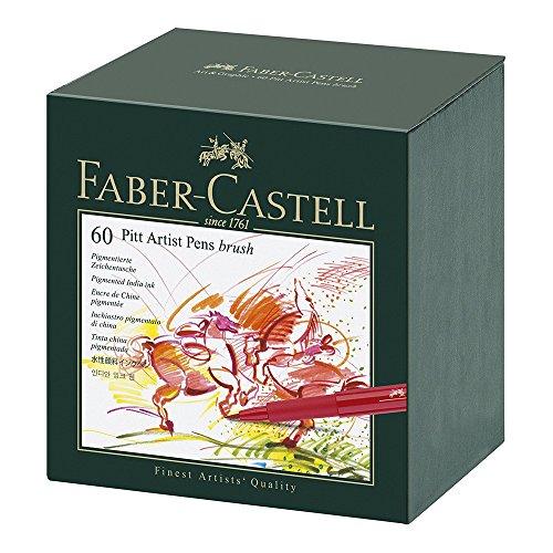 Faber Castell 60 Piece Pitt Artist Brush Pen Set Gift - Brush Faber Pitt Castell