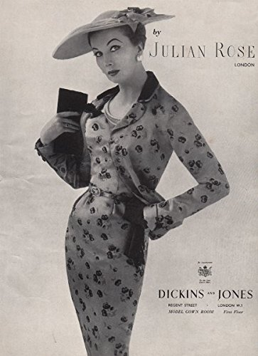 julian-rose-london-dickins-and-jones-fashion-advert-british-vogue-1955-old-print-antique-print-vinta