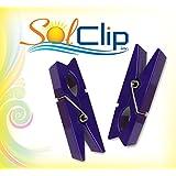 Beach Towel Clips, pegs, épingles, pinces à serviette de plage, SolClip Canada, Purple Clothespin