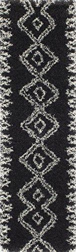 Momeni Rugs MAYA0MAY-1BLK2376 Maya Collection, Ultra Thick Pile Shag Area Rug, 2'3