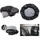 HEALiNK Spare Tire Cover,PVC Leather WaterProof Dust-proof Rv Wheel Covers for Jeep Liberty wrangler SUV Camper Travel Trailer Accessories