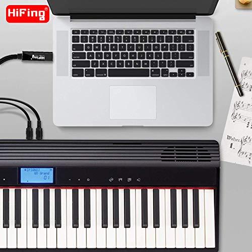 HiFing - Cable adaptador de interfaz MIDI con conector DIN de 5 pines para teclado/batería/efectos de piano a ordenador/Mac/ordenador portátil: Amazon.es: ...