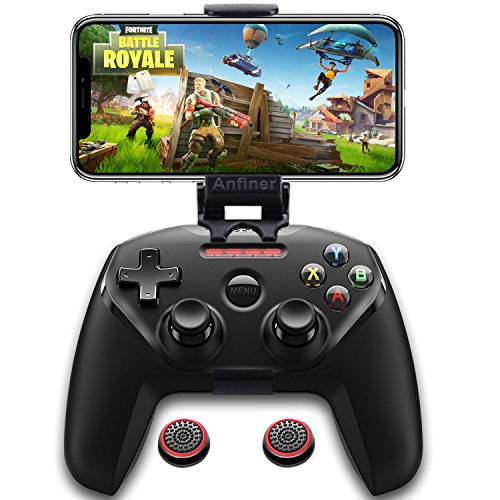 Anfiner collapsible mobile phone holder/game cilp/gamepad support /controller clamp compatible with SteelSeries Nimbus/SteelSeries Stratus XL/Xbox one/Xbox one s/Xbox one x wireless Controller