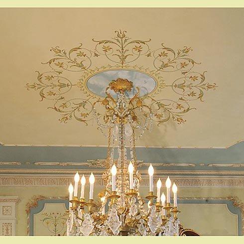 Decorative Stencil Marie-Antoinette Ceiling Medallion - Classic French Decor