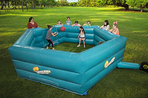 Gaga Ball Pit Inflatable 15' Gagaball Court w Electric Air Pump - Inflates in Under 3 Minutes]()