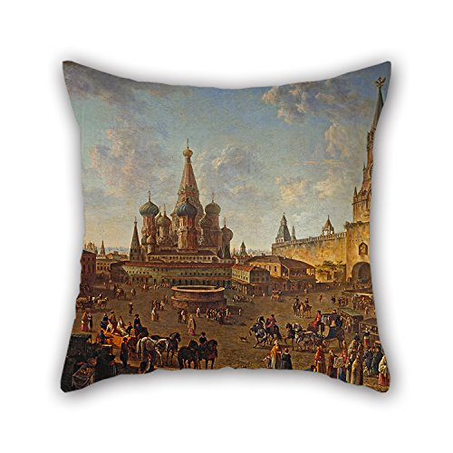 Loveloveu 16 X 16 Inches / 40 By 40 Cm Oil Painting Fedor Alekseyev - КраÑÐ½Ð°Ñ Ð¿Ð»Ð¾Ñ‰Ð°Ð´ÑŒ в МоÑкве Pillow Covers,twin Sides Is Fit For Wedding,dance ()