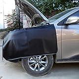 #7: baotongle 3 PCS Automotive Mechanic Magnetic Leather Fender Cover Protector Gripper Automotive Mechanic Work Mat Pad Black