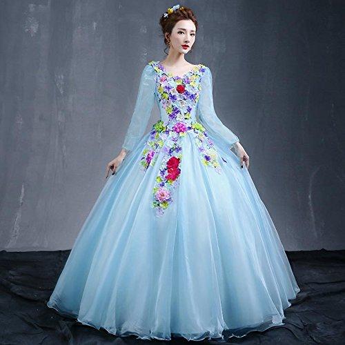 lumière bleu M JKJHAH Robes Femmes Mode Danse