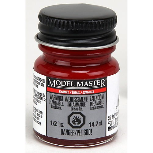 Model Master Enamel Testors - Testor's 2772 1/2 Oz Fire Red Gloss Model Master Auto Enamel Paint