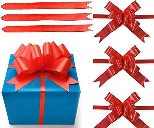 SHATCHI 30 mm//3 cm lazo grande para pared de fiesta cestas de cumplea/ños decoraci/ón florister/ía 30 unidades /árboles de Navidad rojo envoltorios de regalo boda