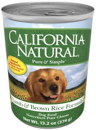 California Natural Lamb & Brown Rice Adult Canned Dog Food - 12x13.2 oz