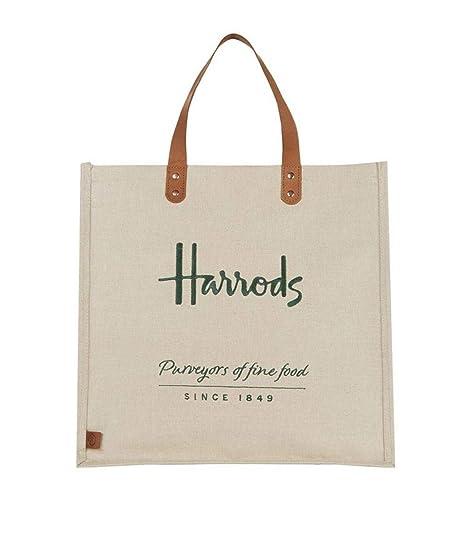 Harrods - Bolso de asas para mujer Juta Large: Amazon.es ...