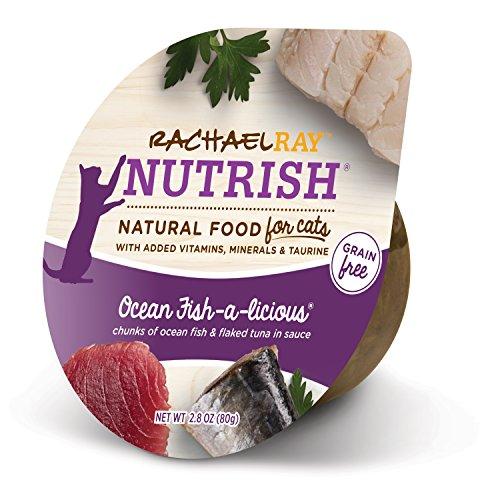 Rachael Ray Nutrish Natural Wet Cat Food, Ocean Fish-A-Licious, Grain Free, 2.8 oz tub