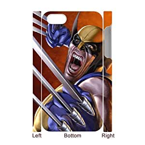 Classic Case The Wolverine pattern design For Apple iPhone 4,4S(3D) Phone Case