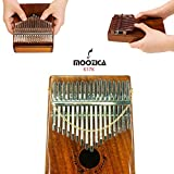 Moozica 17 Keys Kalimba Marimba, Professional Thumb Piano Sanza Mbira Musical Instrument Gift