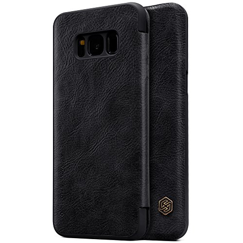 Samsung Galaxy S8 Plus Case , Nillkin Ultra Thin & Lightweight PU Leather Slim Fit Cover with One Card Holder Flip Case