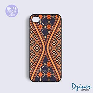 iPhone 6 Tough Case - 4.7 inch model - Blue Orange Batik iPhone Cover