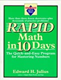 Rapid Math in Ten Days, Edward H. Julius, 0399521291