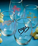 FashionCraft Set of 200 Personalized Stemless Wine Glasses - Custom Artwork Fashion
