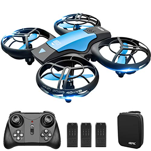 4DV8 Mini Drone for Kids Beginners,Hand Operated/Remote Control Helicopter Quadcopter with 3 Batteries, Altitude Hold…