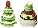 Holly Hat Snowman Collection, Salt and Pepper Shaker Set