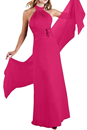 La Mariee High Neck A-Line Chiffon Prom Evening Dresses with Cape Autumn New-