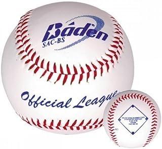 Baden Balle de baseball en cuir synthétique qualité sac-bs Maison et École 22,9cm Lot de 12