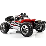 SZJJX RC Car, 1/12 Scale 4WD High Speed Vehicle 35MPH+ 2.4Ghz Radio Remote Control with LED Light Vision - Red