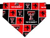 Over the Collar, Reversible Dog Bandana, Texas Tech, Bell Art Designs, Large, DCL0037