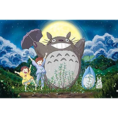 Jigsaw Puzzles for Kids Adults 1000 Piece Moonlight Totoro Children Game Gift Education Toy: Toys & Games