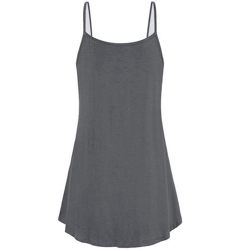 Women Summer Button Cami Tank Tops Vest Loose Blouse T-Shirt Tunic Jumper for Teen Girls Sports Workout