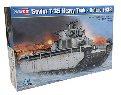 38 Soviet T-35 Heavy Tank Model Kit (1/35 Scale) (T35 Russian Tank)
