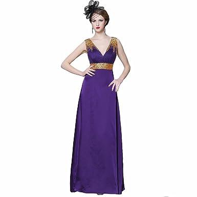 Felaladress Formal Long Purple Chiffon Size 6-30 Prom Dresses For Women