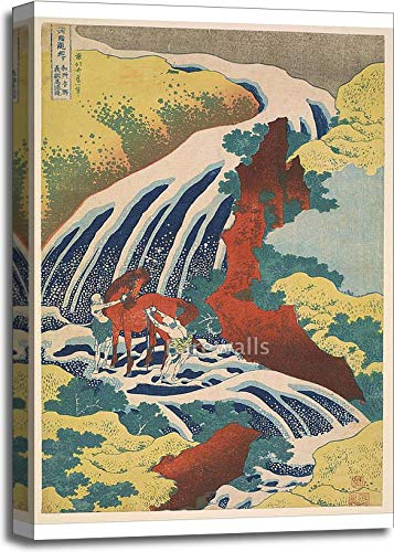 Yoshitsune Falls by Katsushika Hokusai Gallery Wrapped Canvas Art (30in. x 20in.)