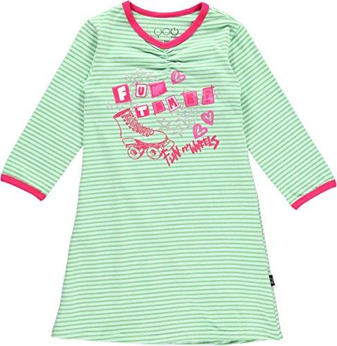 You Kids Mädchen Karin Nachtkleid , Pink / Grün gestreift, Gr. 98, 40630