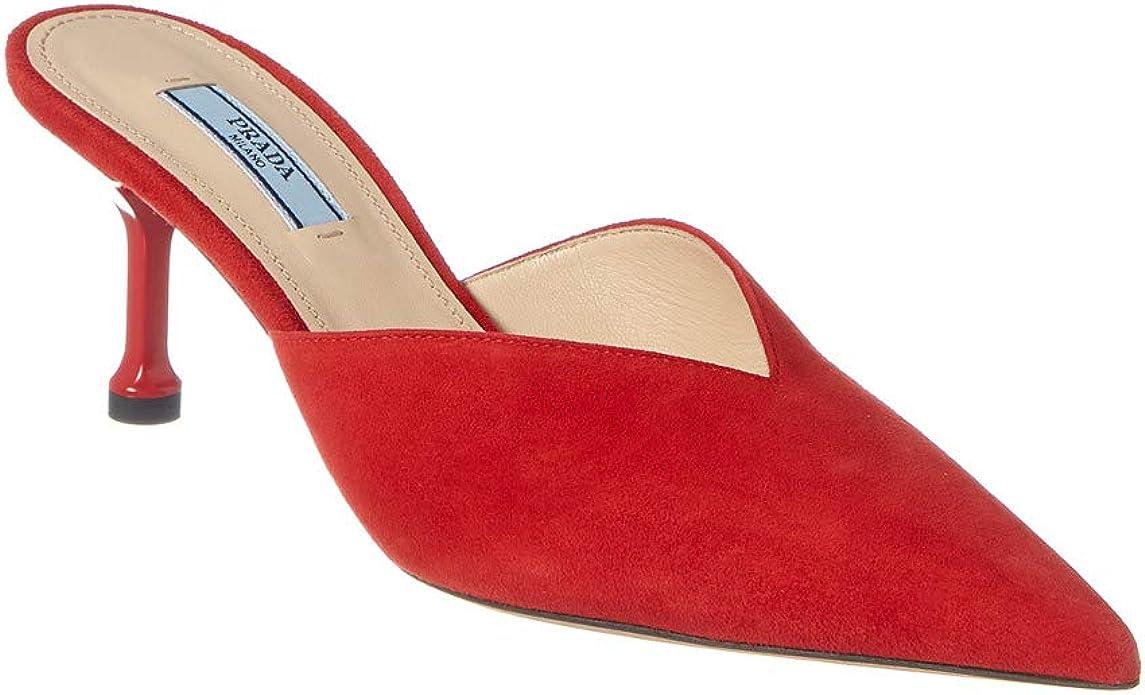 Prada Women's Suede Pointed Toe Heeled