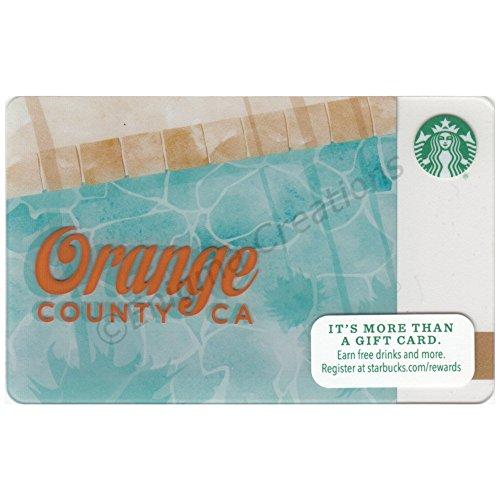 NEW Starbucks Collectible Gift Card, Orange County CA, Empty, Unused, ()