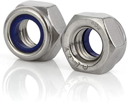 50 5//16-18 Stainless Steel Nylon Insert Hex Lock Nuts SNUG Fasteners SNG587 Fifty