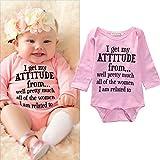 Newborn Baby Girls Bodysuit,Baby Shower Gift, Baby Girl Clothes Pink