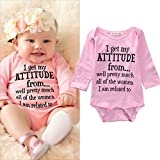 Newborn Infant Baby Girls Cotton Bodysuit Romper Jumpsuit Clothes Outfits (6-12Months)