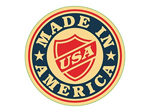 NEW Set of 4 Different Custom Shape Retro Vinyl Decals / Stickers; Made in America / USA Flag. 4