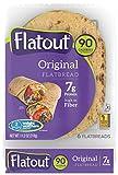 FLATOUT Flatbread Wraps - LIGHT ORIGINAL - 90 Calories - 2 Weight Watchers SmartPoints value per flatbread (2 Packs of 6 Flatbreads)