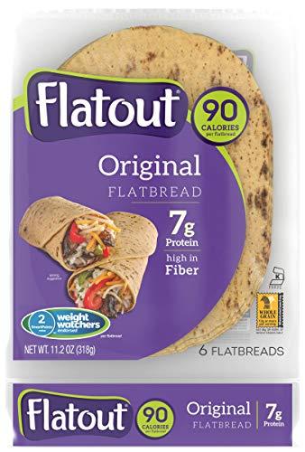 FLATOUT Flatbread - ORIGINAL - 90 Calories - 2 Weight Watchers SmartPoints value per flatbread (2 Packs of 6 Flatbreads)
