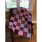 Bright purple 100% cotton flannel back baby quilt
