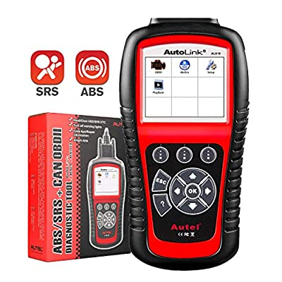 Autel Autolink AL619 OBD2 Scanner ABS SRS Airbag Warning Light Scan Tool, Turn Off Check Engine Light Car Diagnostic Tool, Quick Test Engine System Code Reader: Automotive