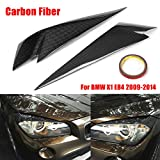 Autumn Water 1Pair Carbon Fiber Headlight Eyebrows Cover Eyelids Trim for BMW X1 E84 2009-2014 Car Styling for Front Headlamp