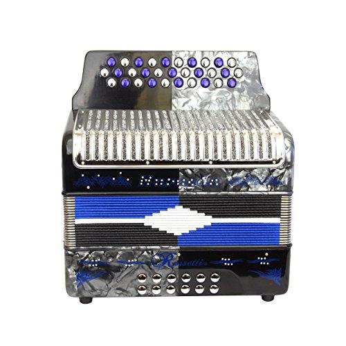 Rossetti HURACAN 3112 31 Buttons 12 Bass Accordion GCF So...