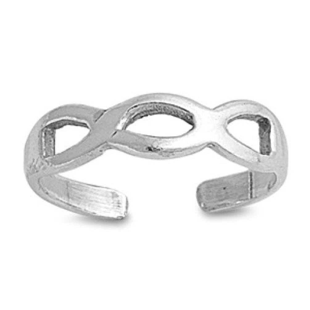 Infinity Toe Ring Fashion Beach Adjustable Fine Jewelry Sterling Silver 925 UK_B013KZLOCO