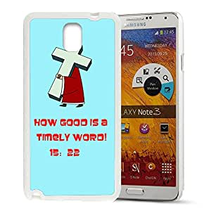 FUNNY DIY The Christian Bible Quote of Gold Pattern HD Durable Hard Plastic Case Cover for Samsung Galaxy Note 3